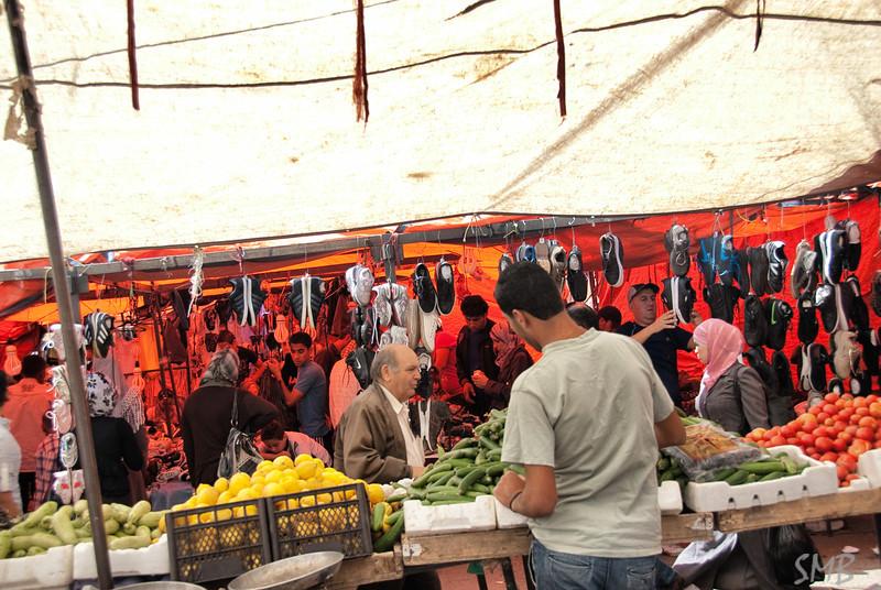 Under the tarps in the souk in Amman, Jordan
