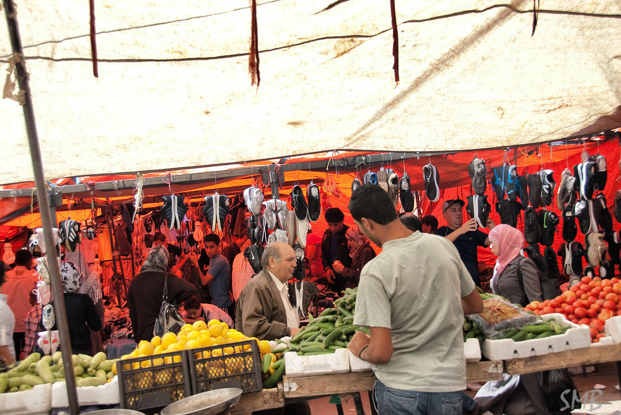 Under the tarps in the souk in Amman, Jordan