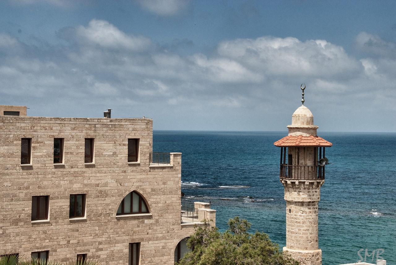 mosque & the Mediterranean<br /> Jaffa, Israel