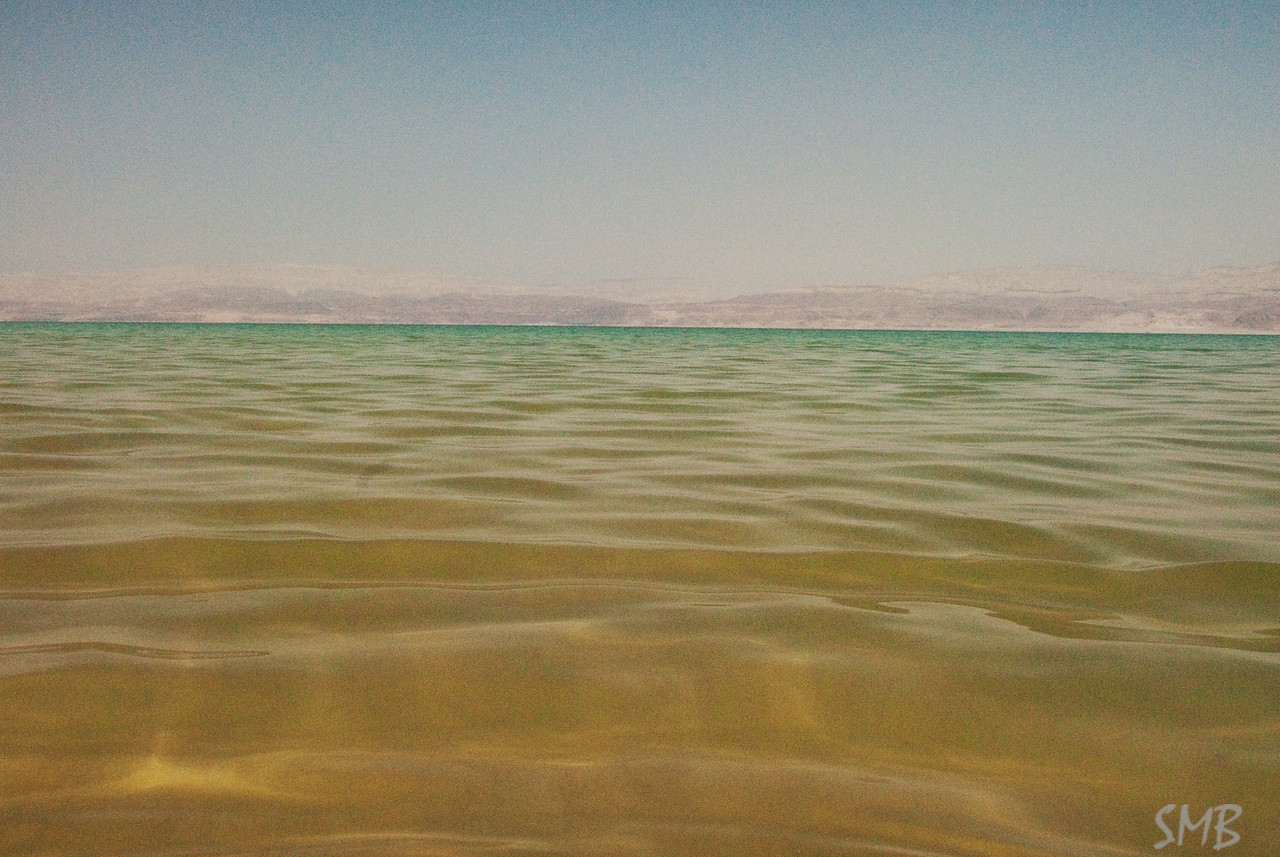 The water was nice. So odd to be in warm water and to float so well it was difficult to stand up. The ground was layers upon layer of salt.<br /> The Dead Sea, Israel