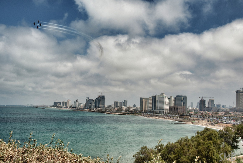 Independence Day air show over Tel Aviv, Israel