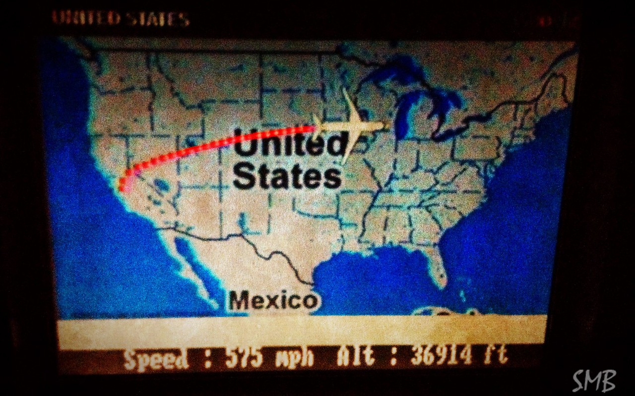in flight!!! almost in Maine!!