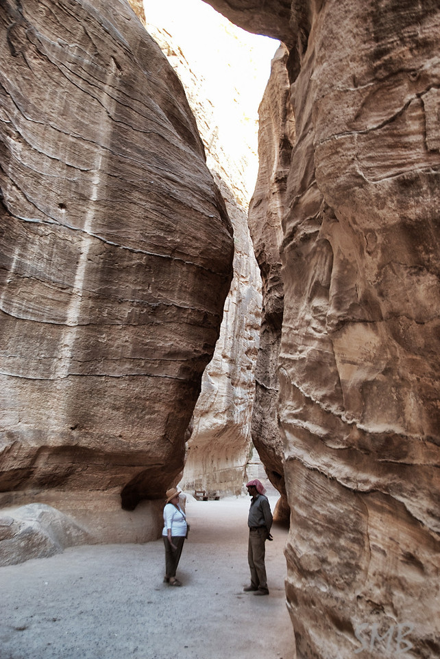 my Mom talking to a Bedouin who wanted to be our tour guide<br /> <br /> Petra, Jordan