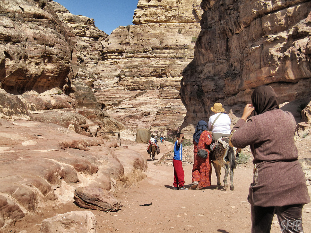 And off she goes on her donkey!!<br /> <br /> Petra, Jordan