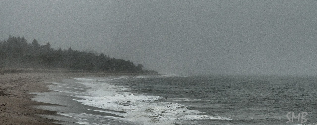stormy beach. Looking north from my parents' beach<br /> <br /> Ferry Beach, Maine