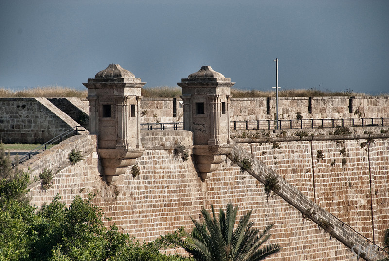 walls of the old city<br /> Acre, Israel