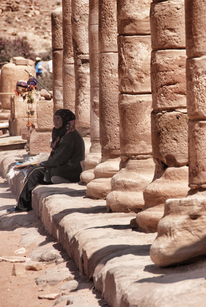 waiting for the tourists along the Roman road.<br /> <br /> Petra, Jordan