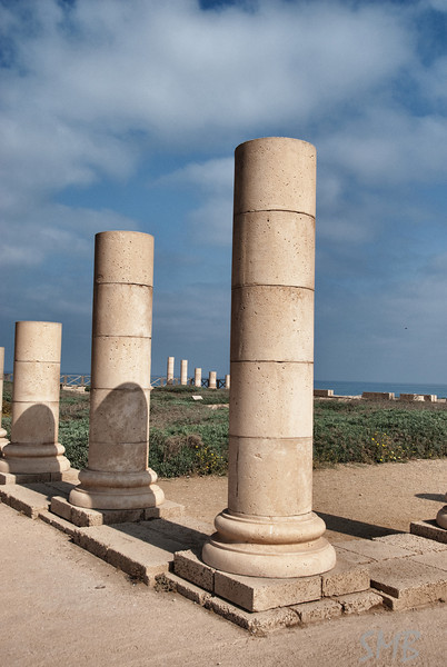 pillars of the palace<br /> <br /> Caesarea, Israel