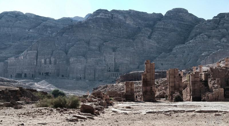 Across the plain<br /> Petra, Jordan