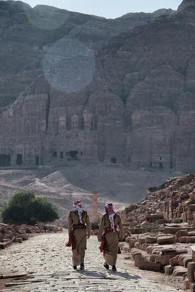 morning stroll on the colonnade<br /> <br /> Petra, Jordan