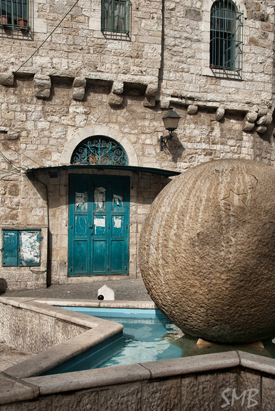 Star fountain in the old city of Bethlehem<br /> <br /> Bethlehem, Palestine