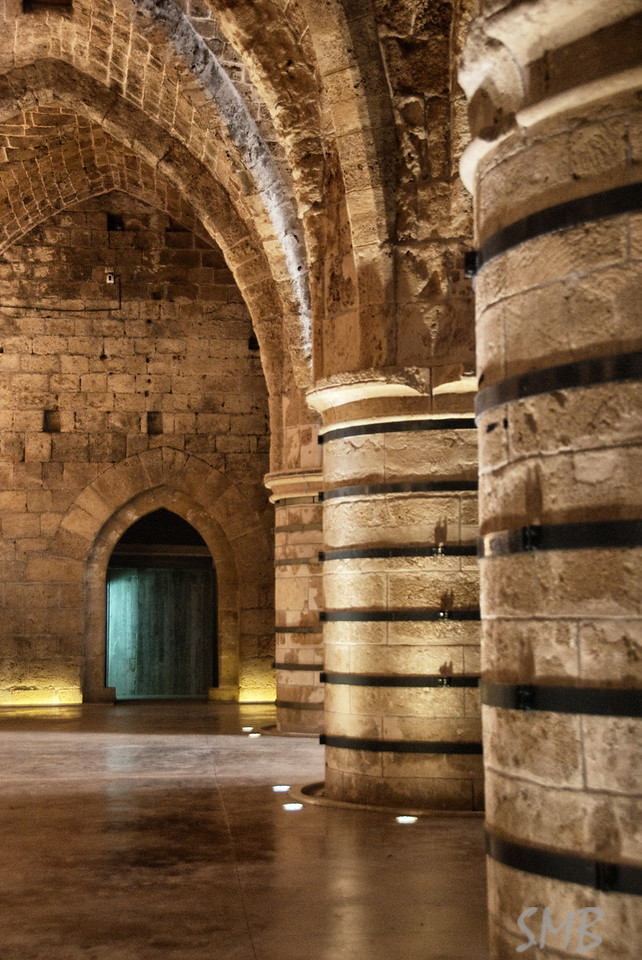 Knight's Hall in the crusader's fort, Acre, Israel