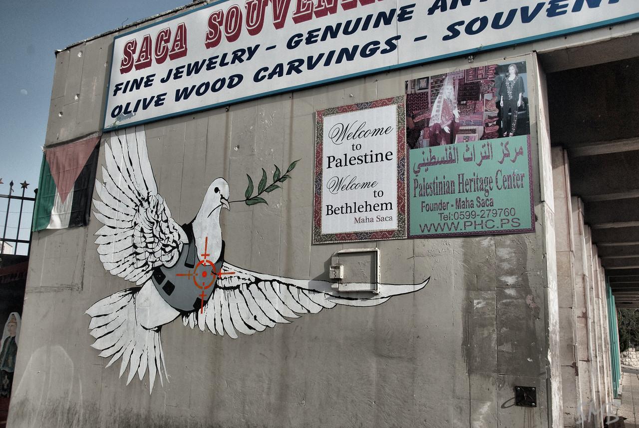 Banksy!<br /> <br /> Bethlehem, Palestine