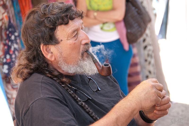 a vendor in the street art market<br /> <br /> Tel Aviv, Israel