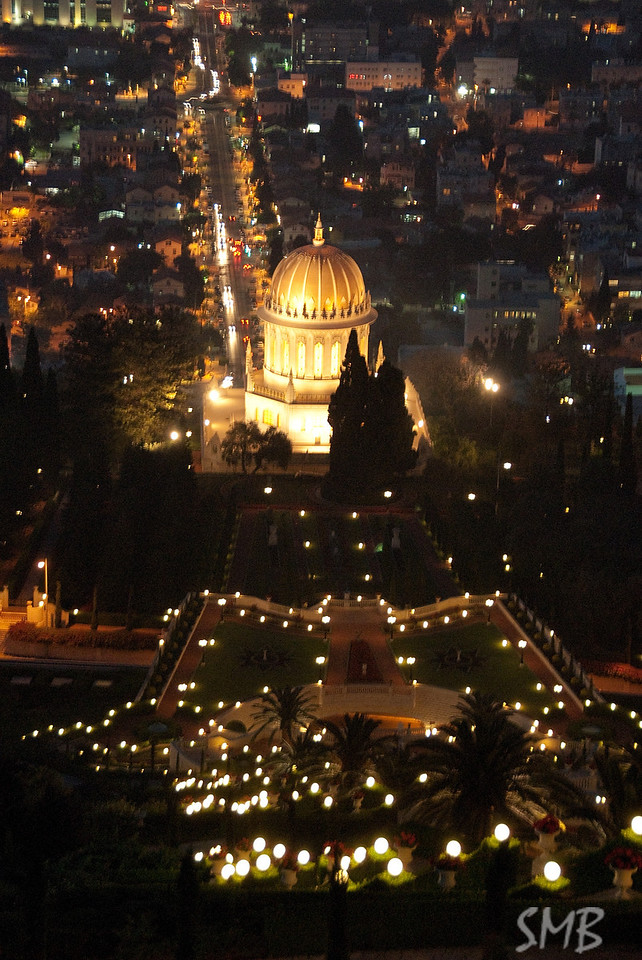 Bahá'í World Centre from above<br /> Haifa, Israel