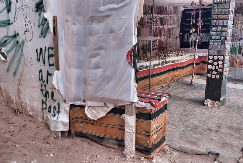 Interesting graffiti <br /> <br /> Petra, Jordan