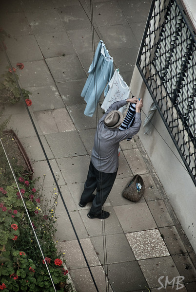 hanging clothes<br /> <br /> Tel Aviv, Israel