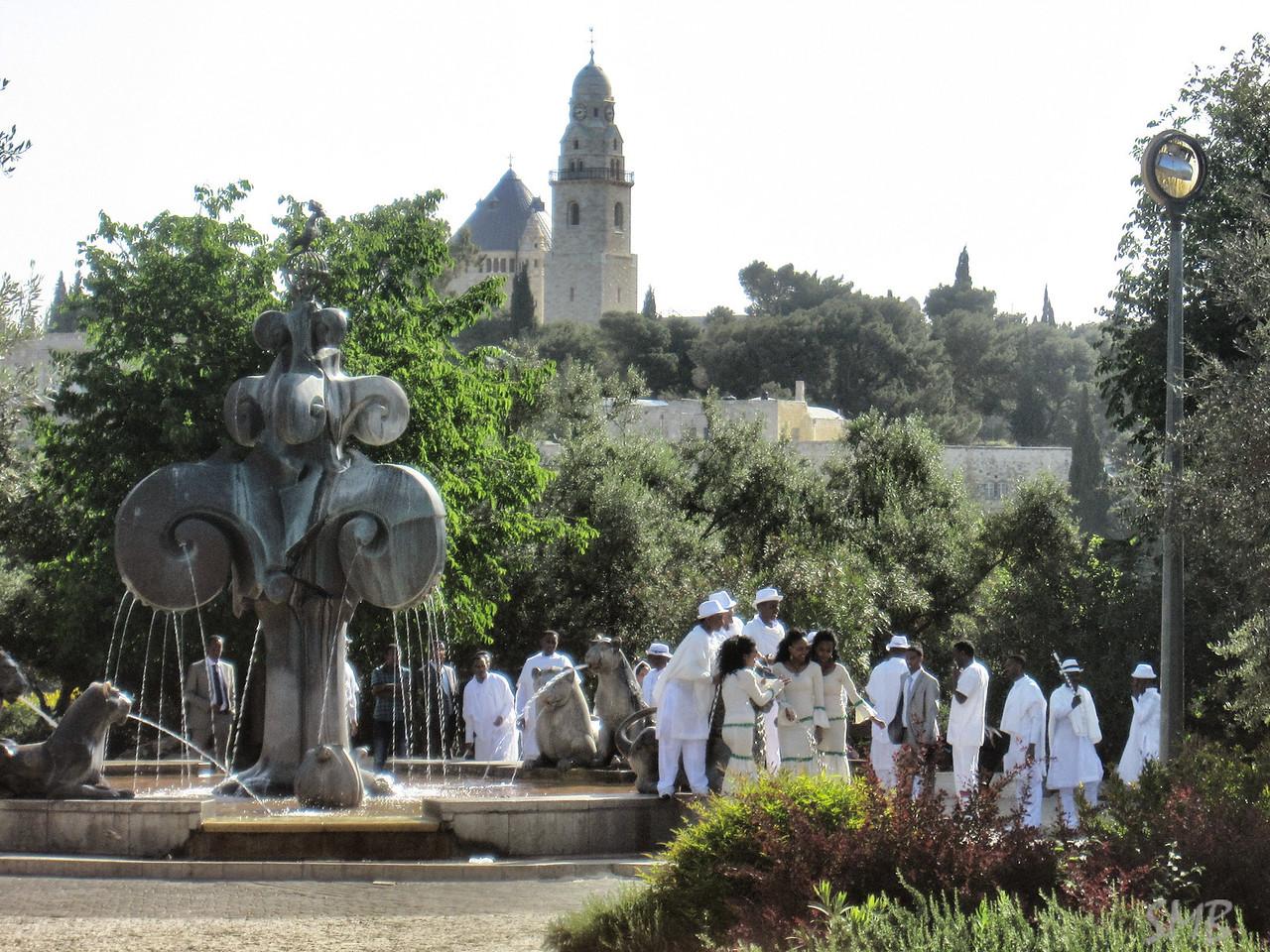 a gathering in the park<br /> <br /> Jerusalem, Israel