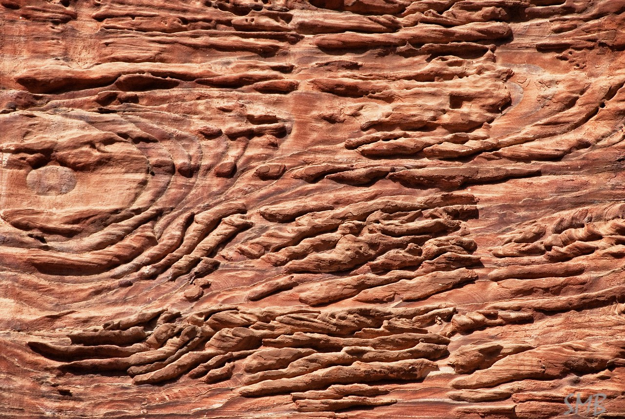 the stone of Petra is pink<br /> <br /> Petra, Jordan