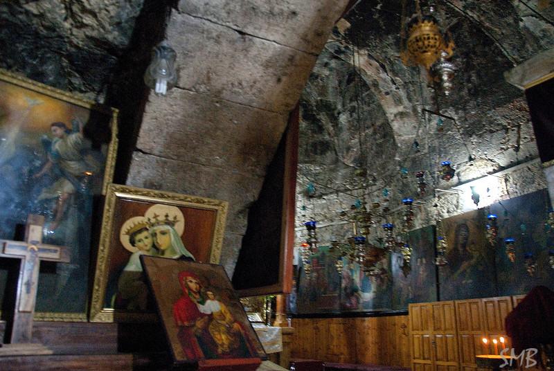 In the tomb of the Virgin<br /> <br /> Jerusalem, Israel
