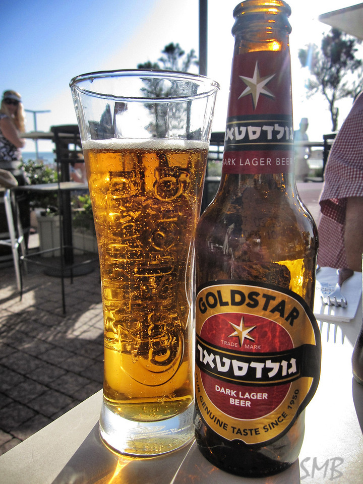My first Israeli beer - GoldStar. It was yummy!<br /> <br /> Tel Aviv, Israel