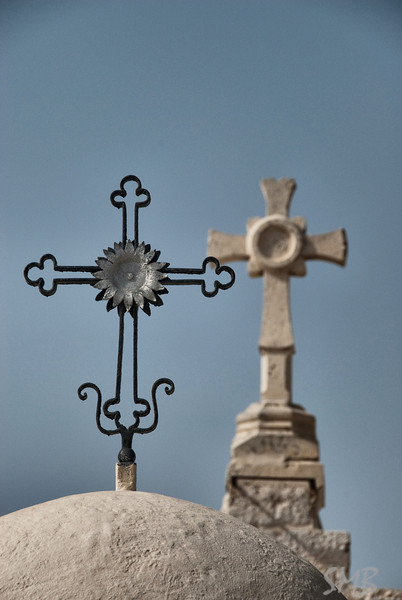 Crosses on the Milk Grotto<br /> <br /> Bethlehem, Palestine
