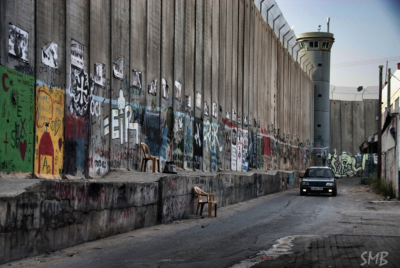 The Israeli West Bank barrier wall.<br /> <br /> Bethlehem, Palestine