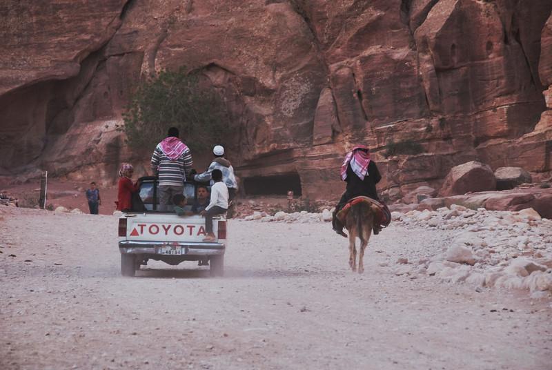 Changing culture<br /> Petra, Jordan