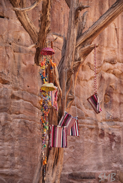 tree of wares to be sold<br /> <br /> Petra, Jordan