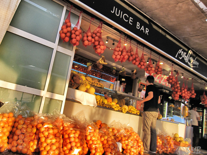 all the juice bars had bags and bags of oranges out front...  and the juice was really, really good.<br /> <br /> Tel Aviv, Israel