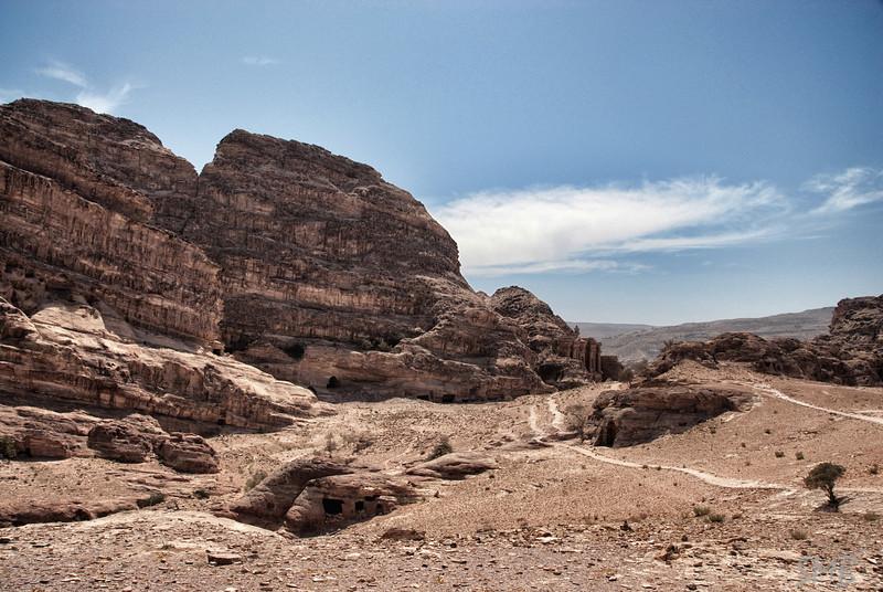 Beyond the monastery<br /> Petra, Jordan