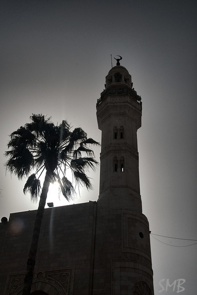 Mosque of Omar on the square in Bethlehem<br /> <br /> Bethlehem, Palestine