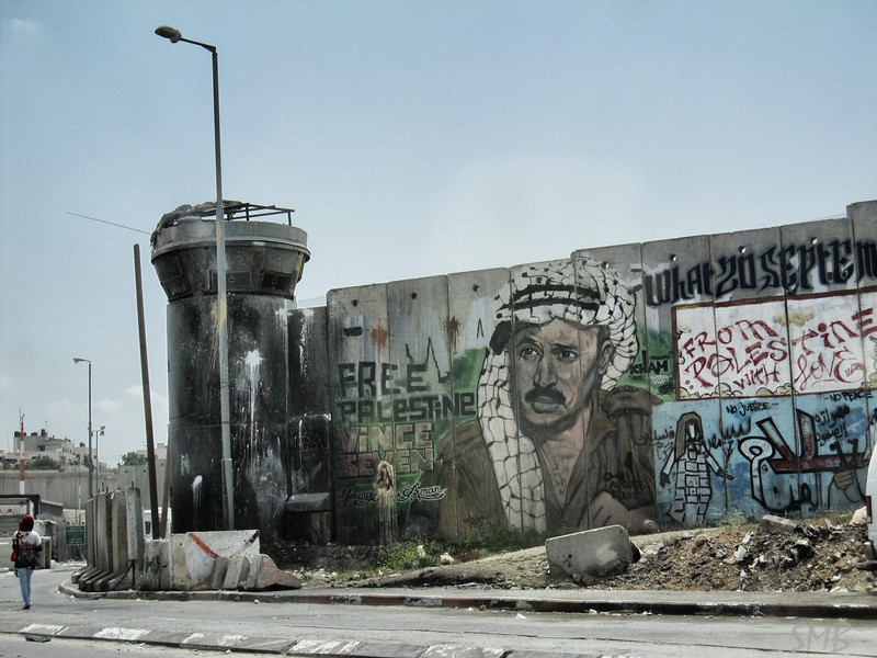 part of the wall on our way to Ramallah, Palestine