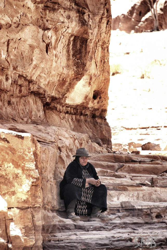 """You buy from me. Not pastique. See"" and then she bit the beads. She claimed her grandmother made all the jewelry in her stand, even the engraved silver, yet it was the same as the jewelry at all the other stands.... Her grandma was busy...<br /> <br /> Petra, Jordan"