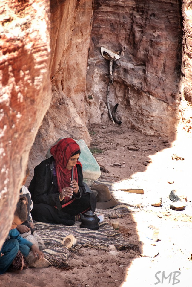 taking a break for tea and some music in the shade.<br /> <br /> Petra, Jordan