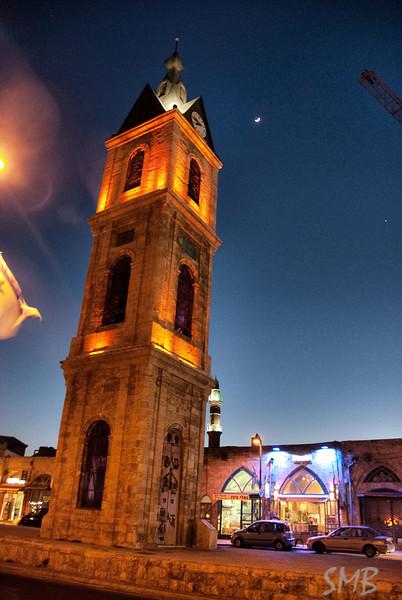 The clock tower<br /> Jaffa, Israel