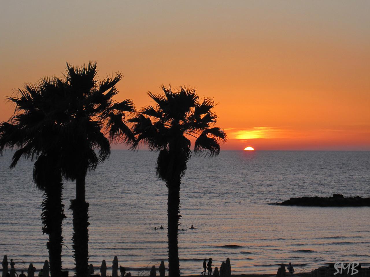 Sunset over the Mediterranean<br /> <br /> Tel Aviv, Israel
