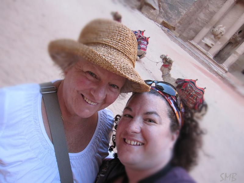 Mom, me and camels<br /> <br /> Petra, Jordan
