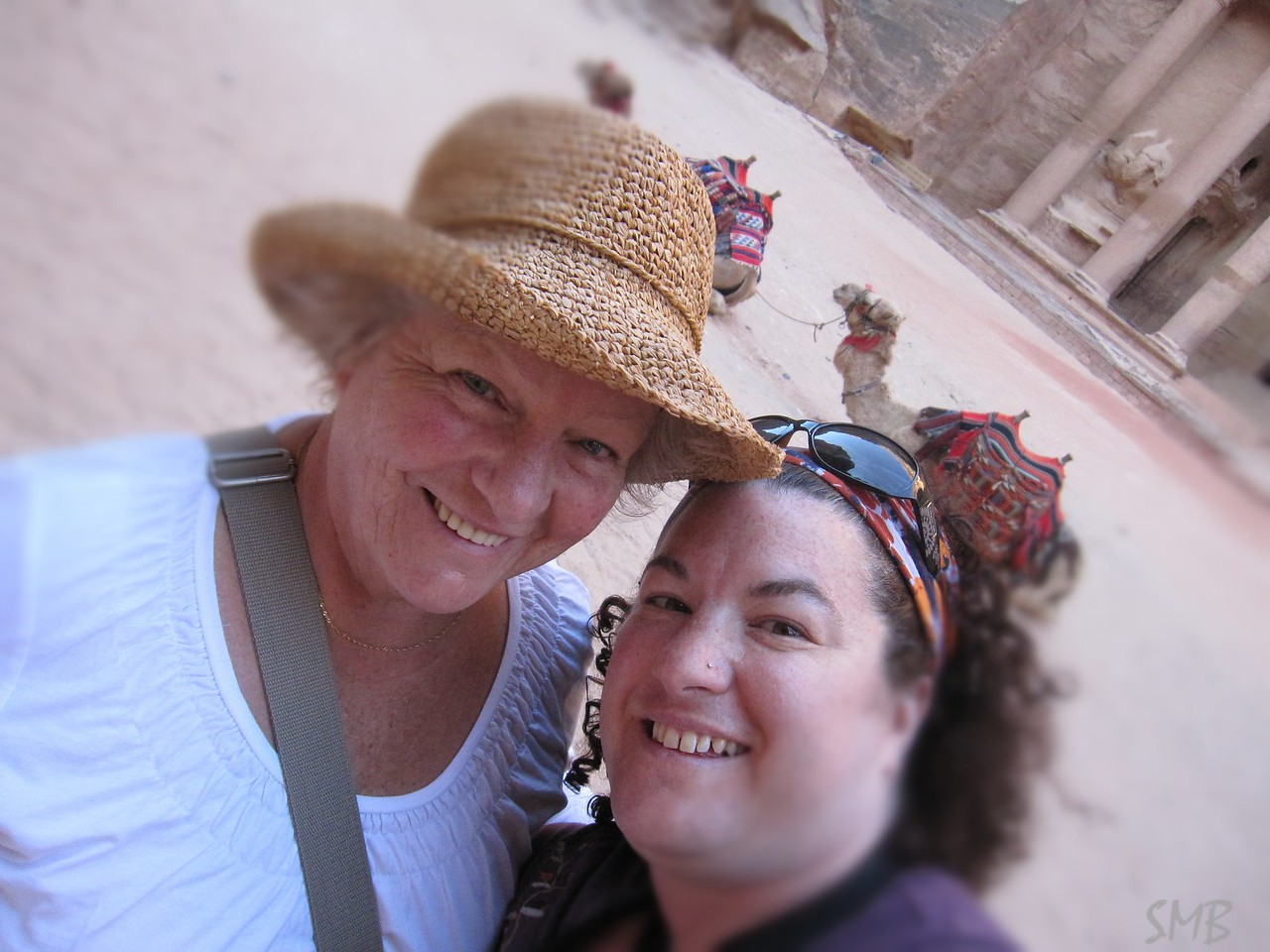 Mom, me and camels<br /> <br /> Petra, Jordan