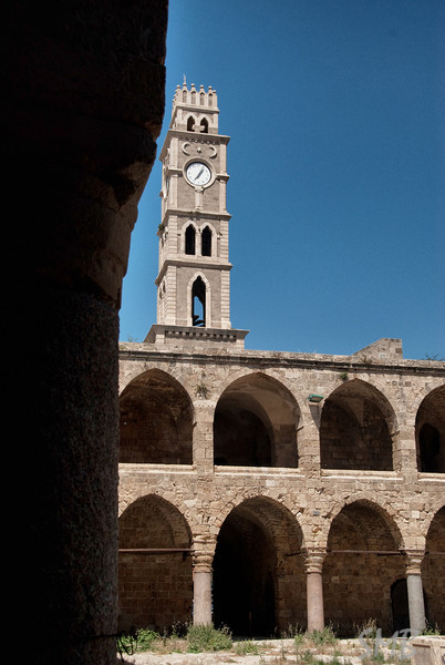 Khan al-Umdan (the old market place) in the old city of Acre, Israel