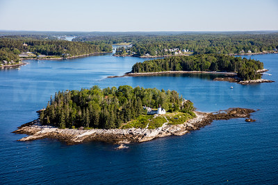 MIP AERIAL BURNT ISLAND LIGHTHOUSE BOOTHBAY HARBOR MAINE-3482
