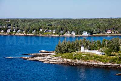 MIP AERIAL BURNT ISLAND LIGHTHOUSE BOOTHBAY HARBOR MAINE-3495