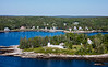 MIP AERIAL BURNT ISLAND LIGHTHOUSE BOOTHBAY HARBOR MAINE-3492