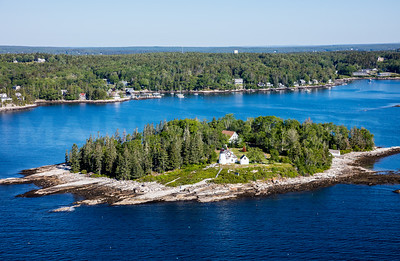 MIP AERIAL BURNT ISLAND LIGHTHOUSE BOOTHBAY HARBOR MAINE-3487