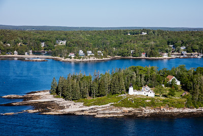 MIP AERIAL BURNT ISLAND LIGHTHOUSE BOOTHBAY HARBOR MAINE-3488