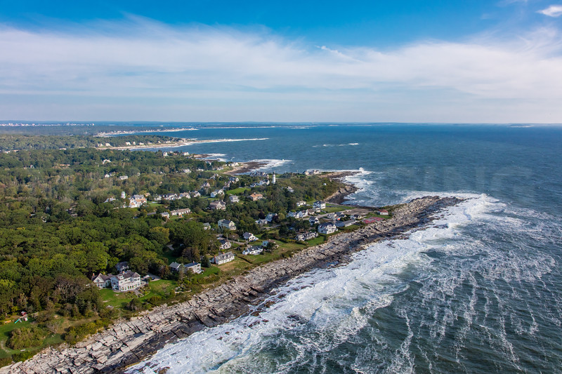 MIP AERIAL TWO LIGHTS STATE PARK CAPE ELIZABETH ME-2875