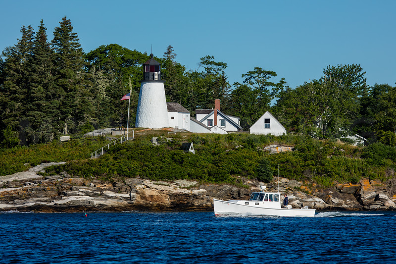 MIP BURNT ISLAND LIGHTHOUSE BOOTHBAY HARBOR MAINE ME-8619