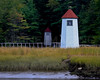 Kennebec River Range Lights, just south of Doubling Point Light.  Arrowsic, Maine.