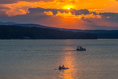 Sunset on Long Lake Naples, Maine #001