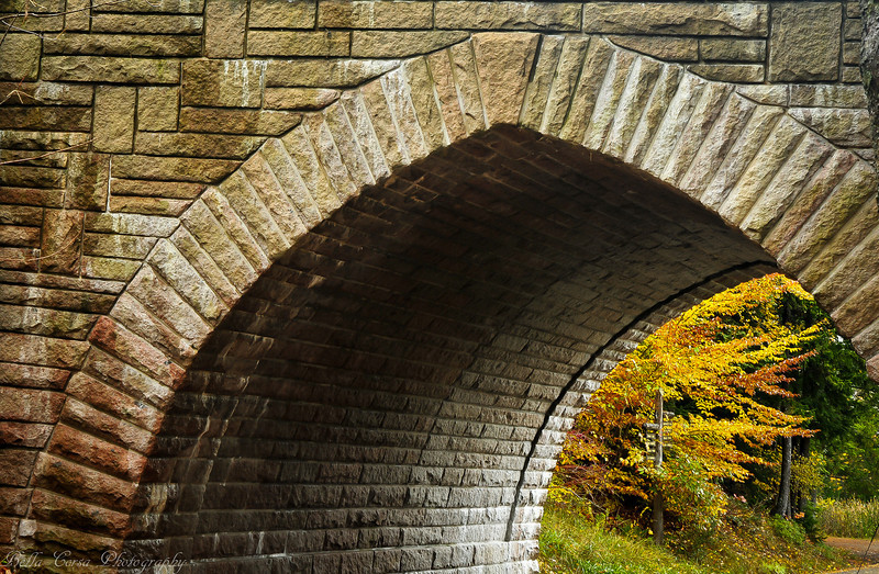 One of 17 carriage bridges through Acadia National Park
